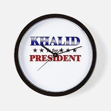 KHALID for president Wall Clock