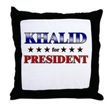 KHALID for president Throw Pillow