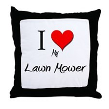 I Love My Lawn Mower Throw Pillow