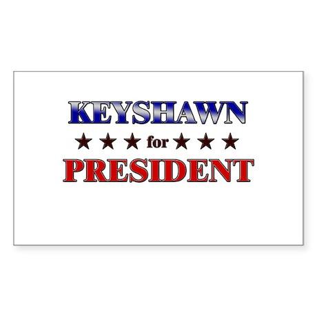 KEYSHAWN for president Rectangle Sticker