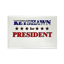 KEYSHAWN for president Rectangle Magnet