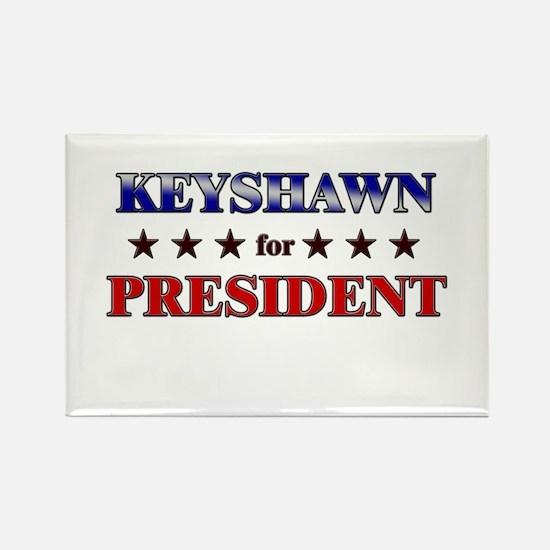 KEYSHAWN for president Rectangle Magnet