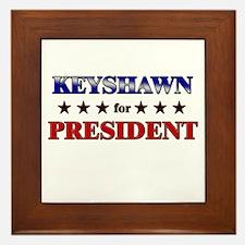 KEYSHAWN for president Framed Tile