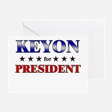 KEYON for president Greeting Card