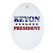 KEYON for president Oval Ornament
