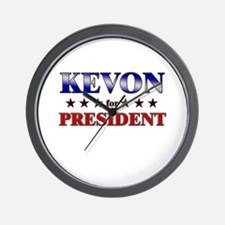 KEVON for president Wall Clock