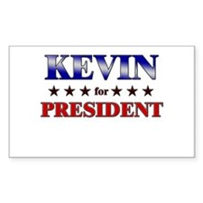 KEVIN for president Rectangle Decal