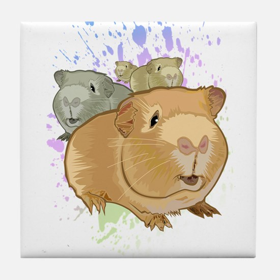 Guinea Pigs Tile Coaster