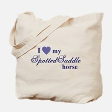 Spotted Saddle horse Tote Bag