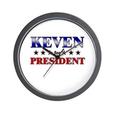 KEVEN for president Wall Clock