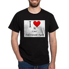 I Love My Law Enforcement Agent T-Shirt