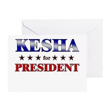 KESHA for president Greeting Card