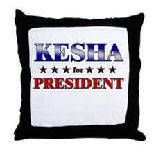 KESHA for president Throw Pillow