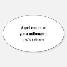 Millionaire Sticker (Oval)