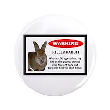 """Cute Bunny 3.5"""" Button"""