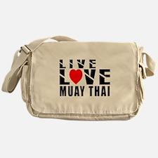 Live Love Muay Thai Martial Arts Messenger Bag