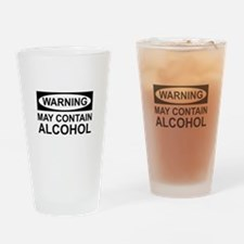 May Contain Alcohol Drinking Glass