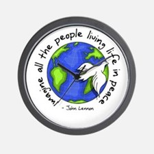 Imagine - World - Live in Peace Wall Clock