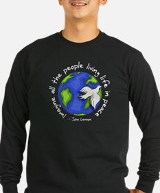 Imagine - World - Live in Peace T