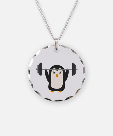Penguin Weightlifting Necklace