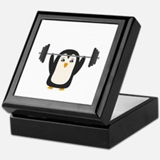 Penguin Weightlifting Keepsake Box