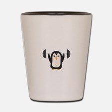 Penguin Weightlifting Shot Glass