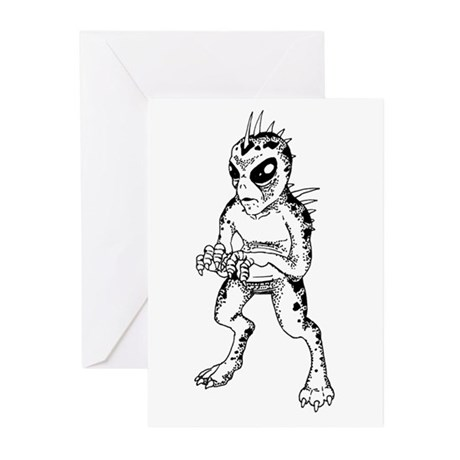 Chupacabra Sketch Greeting Cards (Pk of 10)