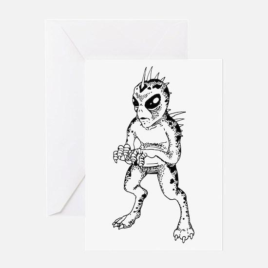 Chupacabra Sketch Greeting Card