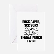Throat Punch I Win Greeting Card