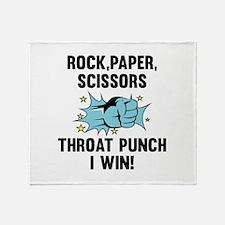 Throat Punch I Win Stadium Blanket