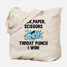 Throat Punch I Win Tote Bag