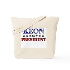 KEON for president Tote Bag