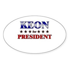 KEON for president Oval Decal