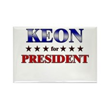KEON for president Rectangle Magnet