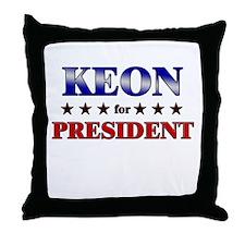 KEON for president Throw Pillow
