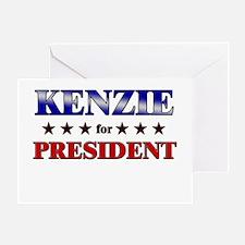 KENZIE for president Greeting Card