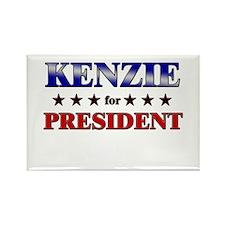 KENZIE for president Rectangle Magnet