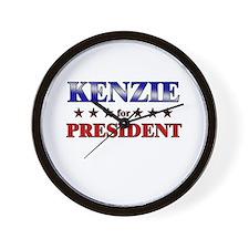 KENZIE for president Wall Clock