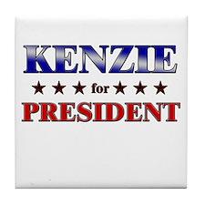 KENZIE for president Tile Coaster