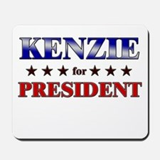 KENZIE for president Mousepad