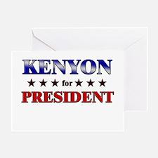 KENYON for president Greeting Card
