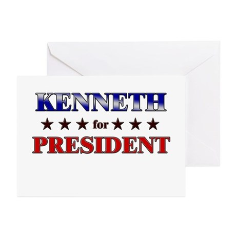 KENNETH for president Greeting Cards (Pk of 20)