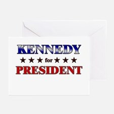 KENNEDY for president Greeting Cards (Pk of 10)