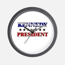 KENNEDY for president Wall Clock