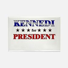 KENNEDI for president Rectangle Magnet