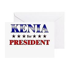 KENIA for president Greeting Card