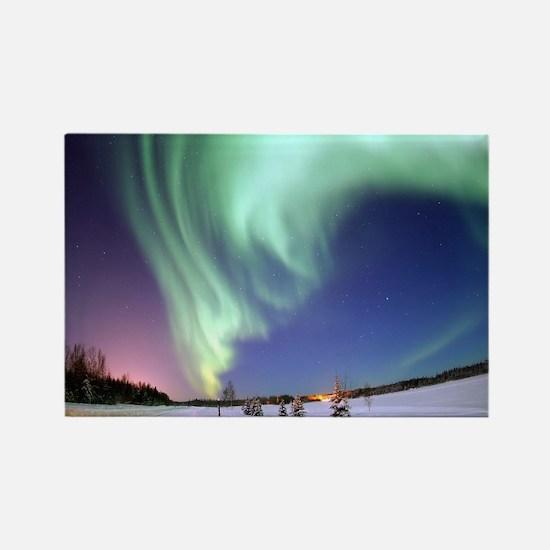 Cute Aurora borealis Rectangle Magnet