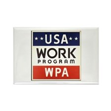 USA Work Program Rectangle Magnet