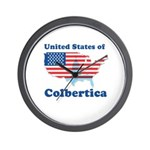United States of Colbertica Wall Clock