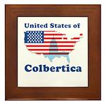 United States of Colbertica Framed Tile